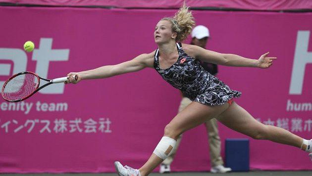 Kateřina Siniaková během finále v Tokiu.