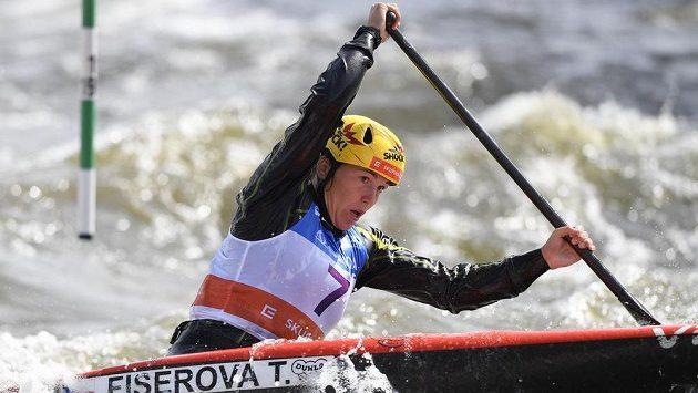 Kanoistka Tereza Fišerová skončila v Troji třetí ve finále Světového poháru ve vodním slalomu