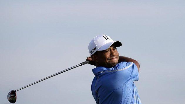Americký golfista Tiger Woods na turnaji The Barclays.