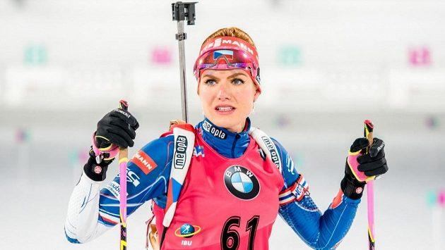 Biatlonistka Gabriela Koukalová v Pchjongčchangu.