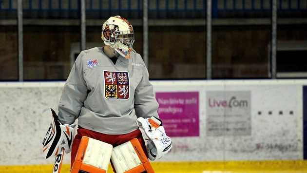 Hokejový brankář Marek Langhamer