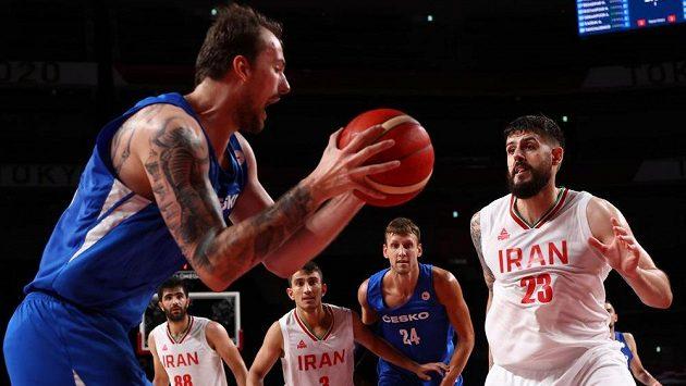 Ondřej Balvín při zápase s Íránem.