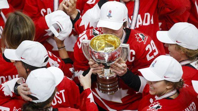 Kanadské hokejistky otočily poslední finále MS s USA a získaly rekordní jedenáctý titul. Ilustrační foto.