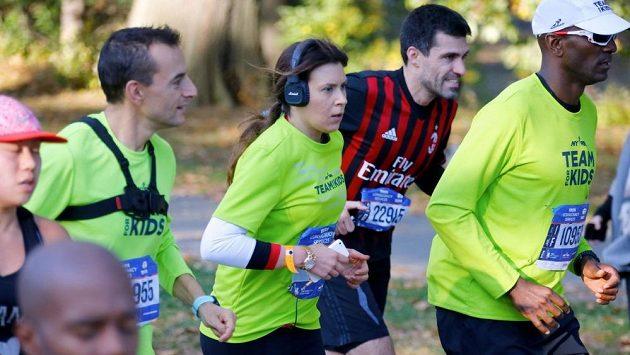Marion Bartoliová při slavném maratónu v New Yorku.