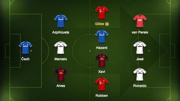 Mario Götze je kapitánem našeho hvězdného týmu.