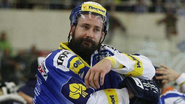 Hokejista Tomáš Divíšek ještě v dresu Brna.