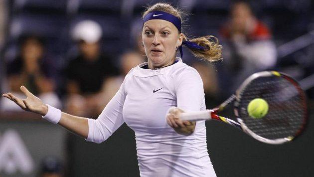 Tenistka Petra Kvitová během zápasu s Barborou Záhlavovou-Strýcovou.