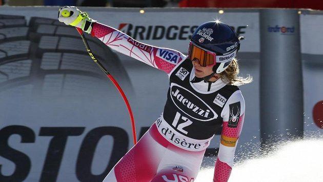Američanka Laurenne Rossová při kombinace ve Val d'Isere.