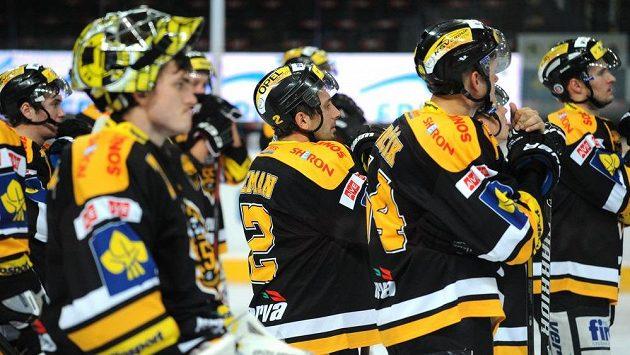 Zklamaní hokejisté Litvínova - ilustrační foto.