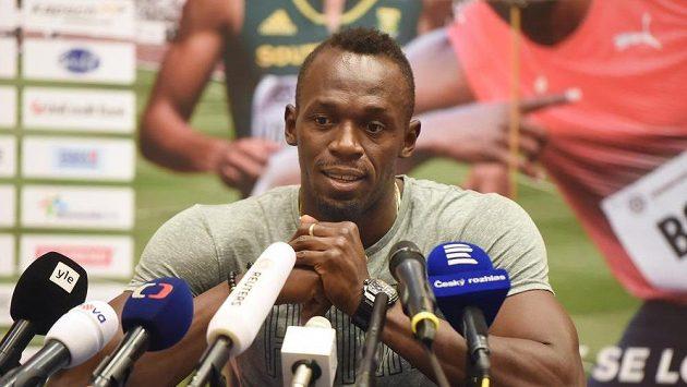 Jamajský sprinter Usain Bolt v Ostravě před Zlatou tretrou.