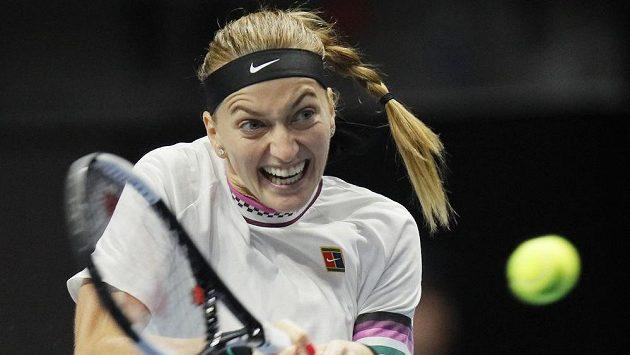Petra Kvitová na turnaji v Petrohradu.
