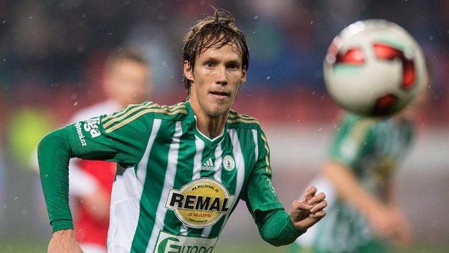 Michal Švec z Bohemians během derby se Slavií.