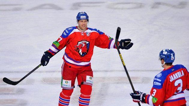 Útočník Lva Praha Martin Thörnberg.