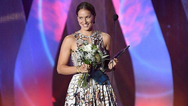 Barbora Strýcová během vyhlášení ankety Sportovec roku 2019