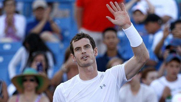 Andy Murray po vítězném souboji s Richardem Gasquetem.