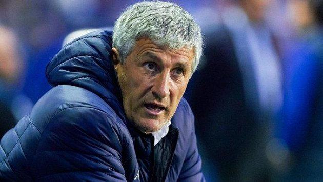 Bývalý trenér fotbalistů Barcelony Quique Setién.