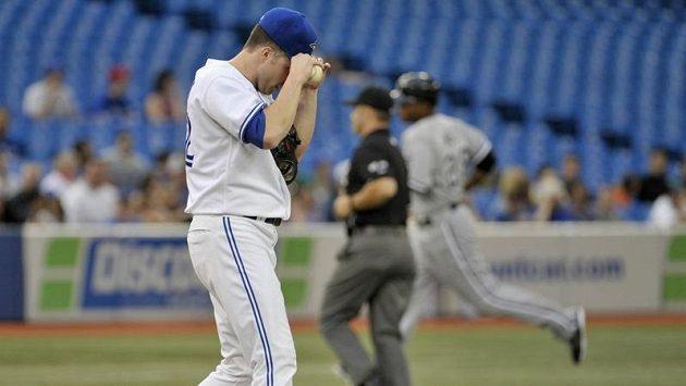 Baseballista Toronto Blue Jays Aaron Laffey.