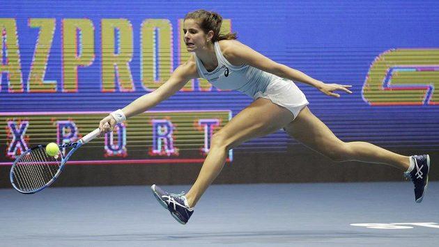 Němka Julia Görgesová na snímku ze semifinále turnaje v Petrohradu.