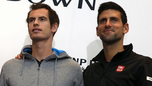 Andy Murray (vlevo) a Novak Djokovič v New Yorku.