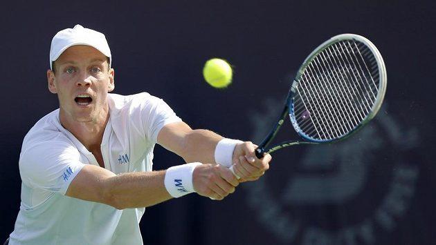 Tomáš Berdych na turnaji v Dubaji.