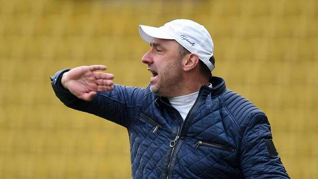 Liberecký trenér Jindřich Trpišovský při utkání v Teplicích.