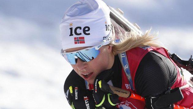Norská biatlonistka Tiril Eckhoffová, královna uplynulého MS v Pokljuce.