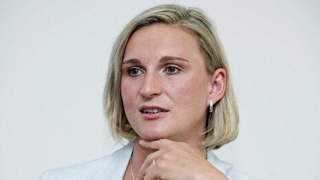 Oštěpařka Barbora Špotáková před atletickým mítinkem Zlatá tretra Ostrava.