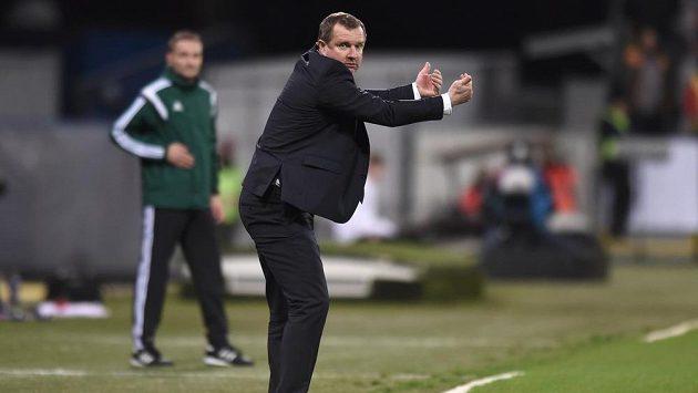 Trenér Pavel Vrba během kvalifikačního utkání proti Islandu.