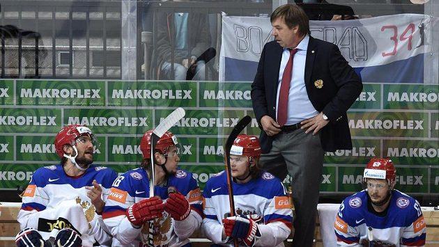 Ruský útočník Alexander Ovečkin (vlevo) a Oleg Znarok. Já na olympiádu pojedu, trenére.