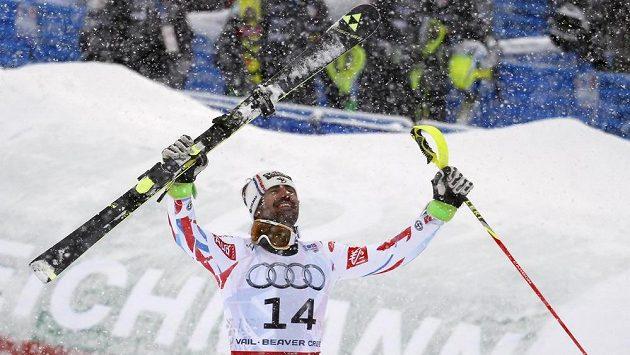 Francouz Jean-Baptiste Grange se stal v Beaver Creeku mistrem světa ve slalomu.