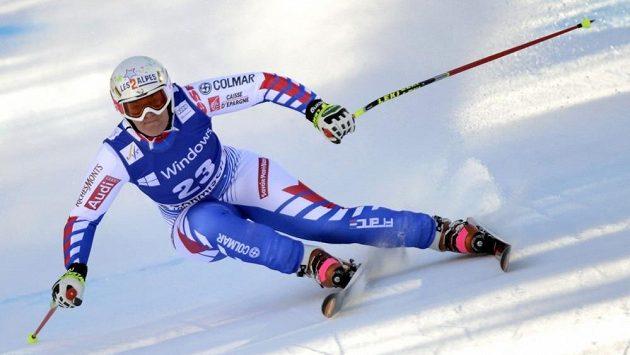 Francouzka Marion Rollandová na trati závodu Světového poháru v Ga-Pa.