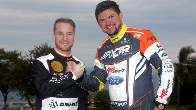 Martin Prokop a Mads Östberg (vlevo). Pro nadcházející sezónu členové jednoho týmu a ve vybraných závodech soupeři.