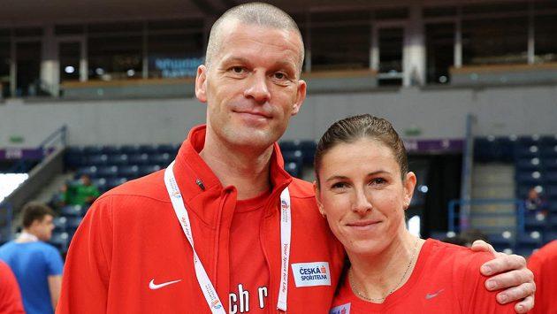 Zuzana Hejnová se svým německým koučem Falkem Balzerem.