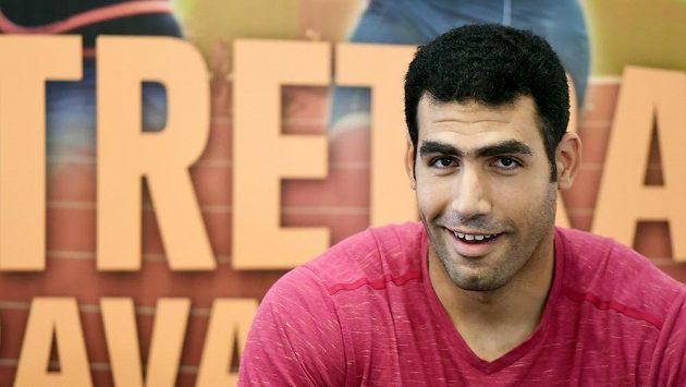 Egyptský oštěpař Ihab Abdelrahman se objeví na atletickém mítinku Zlatá tretra.