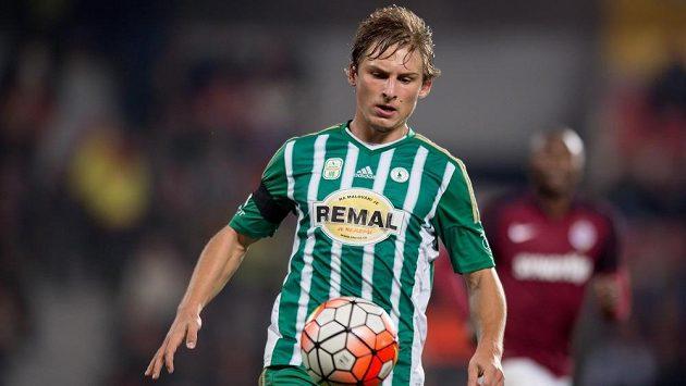 Michal Hubínek ještě v dresu Bohemians během utkání na Spartě.