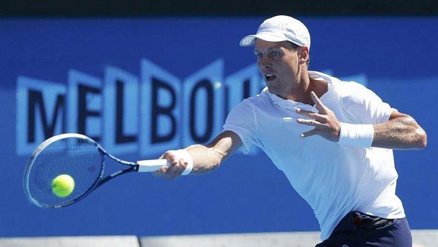 Český tenista se chystá na osmifinále v Melbourne.