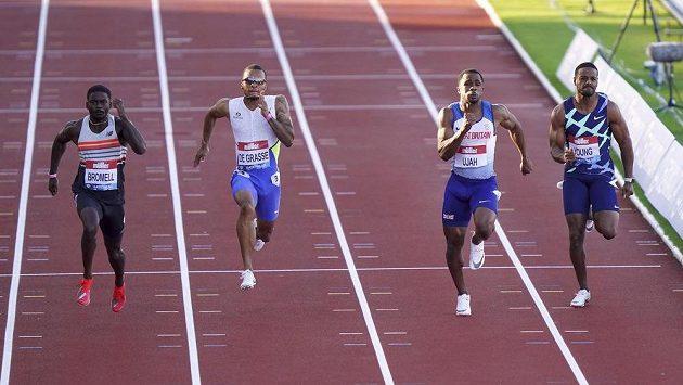 Finiš sprintu na 100 metrů na mítinku Gatesheadu. Ilustrační foto.