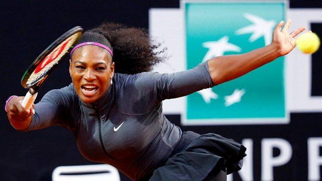 Americká tenistka Serena Williamsová na turnaji v Římě.