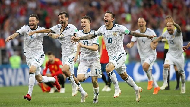 Ruští fotbalisté na světovém šampionátu předváděli výborné výkony