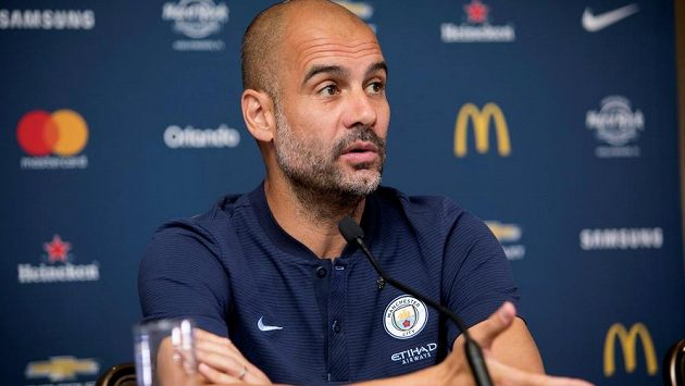 Kouč Manchesteru City Pep Guardiola.