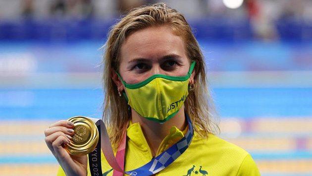 Zlatá medailistka Ariarne Titmusová z Austrálie