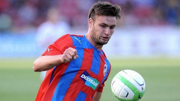 Plzeňský útočník Tomáš Wágner během 2.předkola Ligy mistrů mezi FC Viktoria Plzeň a FK Željezničar Sarajevo.