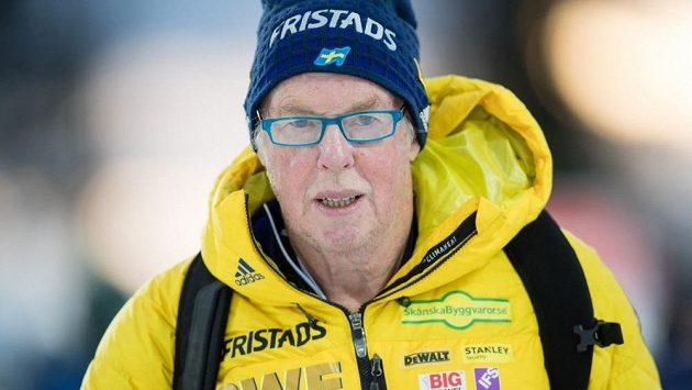 Šéftrenér švédských biatlonistů Wolfgang Pichler.