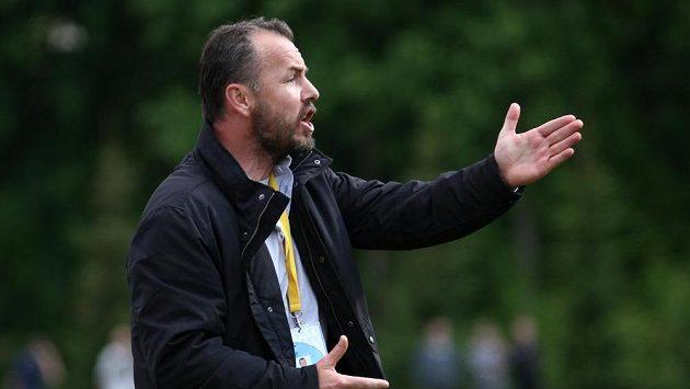 Trenér Varnsdorfu Zdenko Frťala při utkání s Olomoucí.