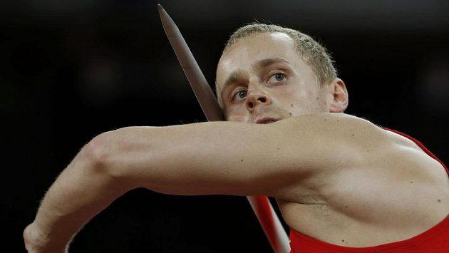 Český oštěpař Jakub Vadlejch při kvalifikaci v Pekingu.