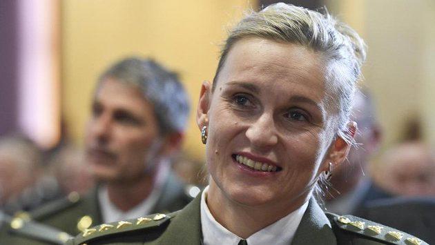 Barbora Špotáková na setkání legend a osobností armádního sportu při příležitosti oslav 70 let od založení ATK - ÚDA - Dukla.
