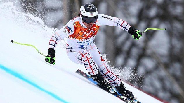 Ondřej Bank na olympijském svahu Krasnaja Poljana