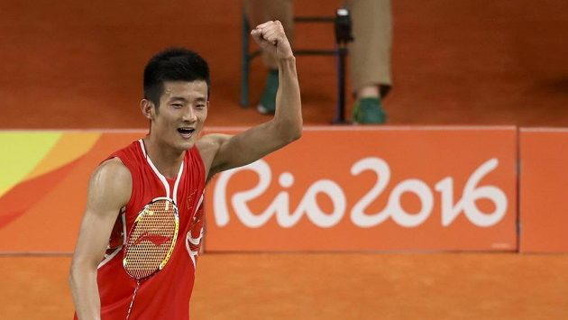 Radost malajsijského badmintonisty Chonga Wei Leea. Ke zlatu to ovšem znovu nestačilo.