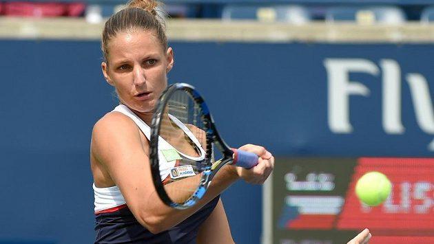 Karolína Plíškova na turnaji v Torontu.