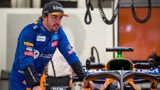Fernando Alonso testoval nový monopost McLarenu.
